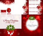 Link toChristmas red and white background vector