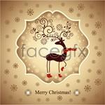 Link toChristmas reindeer greeting cards vector