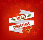 Christmas ribbon card vector