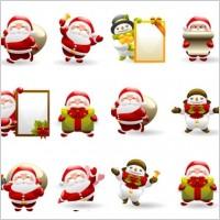 Link toChristmas santa icon set