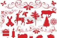 Link toChristmas sketch elements vector