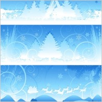 Link toChristmas snow background vector
