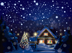 Link toChristmas snow house vector