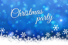 Link toChristmas snow party poster vector
