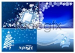 Link toChristmas snowflake background 2 vector