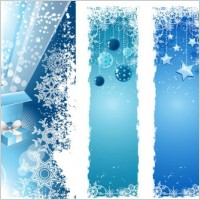 Link toChristmas snowflake decorations vector