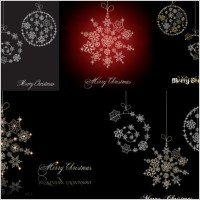 Link toChristmas snowflake ornaments vector
