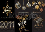 Link toChristmas snowflake pattern vector