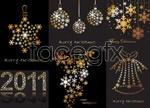 Christmas snowflake pattern vector