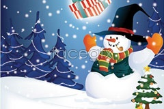 Link toChristmas snowman christmas vector illustration