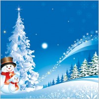 Link toChristmas snowman snow vector