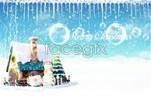 Link toChristmas snowman snowflake scene hierarchy psd