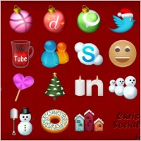 Link toChristmas social icons icons pack