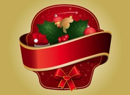 Link toChristmas sticker vector free