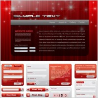 Link toChristmas style web design elements vector