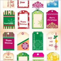 Link toChristmas tag vector