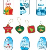 Link toChristmas tags vector set