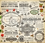 Link toChristmas theme label 05 vector