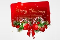 Link toChristmas themed card vector
