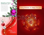 Link toChristmas-themed greeting cards vector