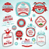 Link toChristmas-themed label vector design