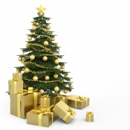 Link toChristmas tree and christmas gifts