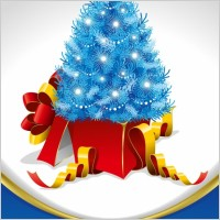 Link toChristmas tree and gifts vector