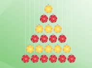 Link toChristmas tree from ornaments vector free