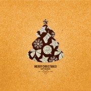 Link toChristmas tree menu background vector
