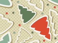Link toChristmas tree stars pattern vector free
