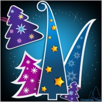 Link toChristmas tree tags 02 vector