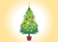 Link toChristmas tree vector image free