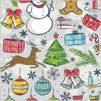 Link toChristmas vector cute handpainted items