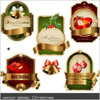 Link toChristmas vector labels vector