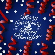 Link toChristmas with 2014 new year creative background set 04 vector