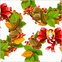 Link toChristmas wreath cool texture vector 2