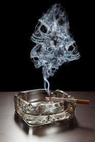 Link toCigarette smoking skull shape picture