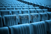 Cinema blue seat high definition pictures