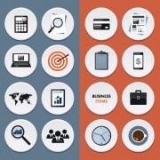Link toCircle flat icons set vectors 02 free
