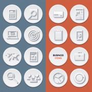 Link toCircle flat icons set vectors 04 free