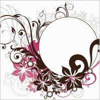 Link toCircle frame with floral decorations vector graphic