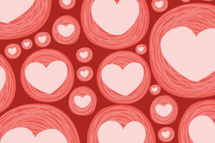 Link toCircle of love seamless vector background