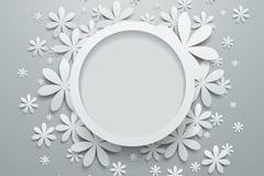 Link toCircle pattern paper-cut vector