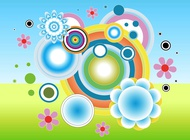 Link toCircles flowers vector free