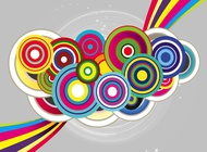 Link toCircles flyer vector free