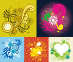 Circles pattern background borders vector