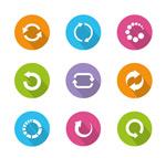 Circular loading refresh icon vector