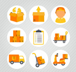 Circular logistics icon vector