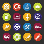 Link toCircular vehicle maintenance icon vector