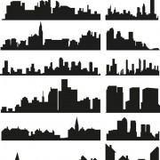 Link toCity building creative silhouettes design vector free